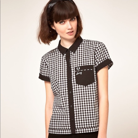 c2ed9eee5 Fred Perry Tops - FRED PERRY X AMY WINEHOUSE Bowling Shirt